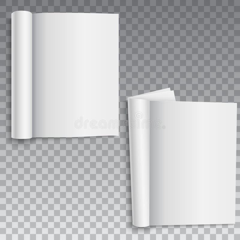 Placa do livro, do catálogo ou do folheto com folhas roladas Vetor ilustração do vetor