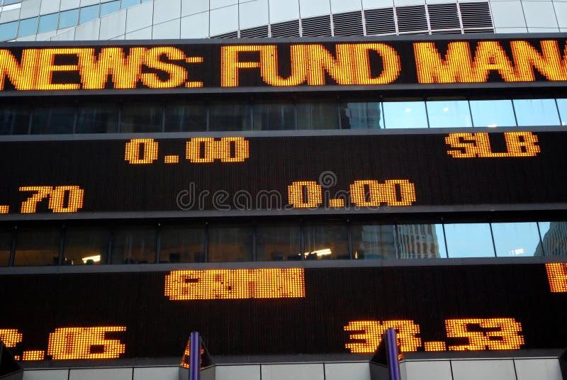 Placa do mercado de valores de acção fotografia de stock