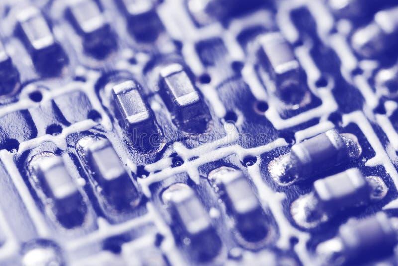 Placa do microcircuito. foto de stock
