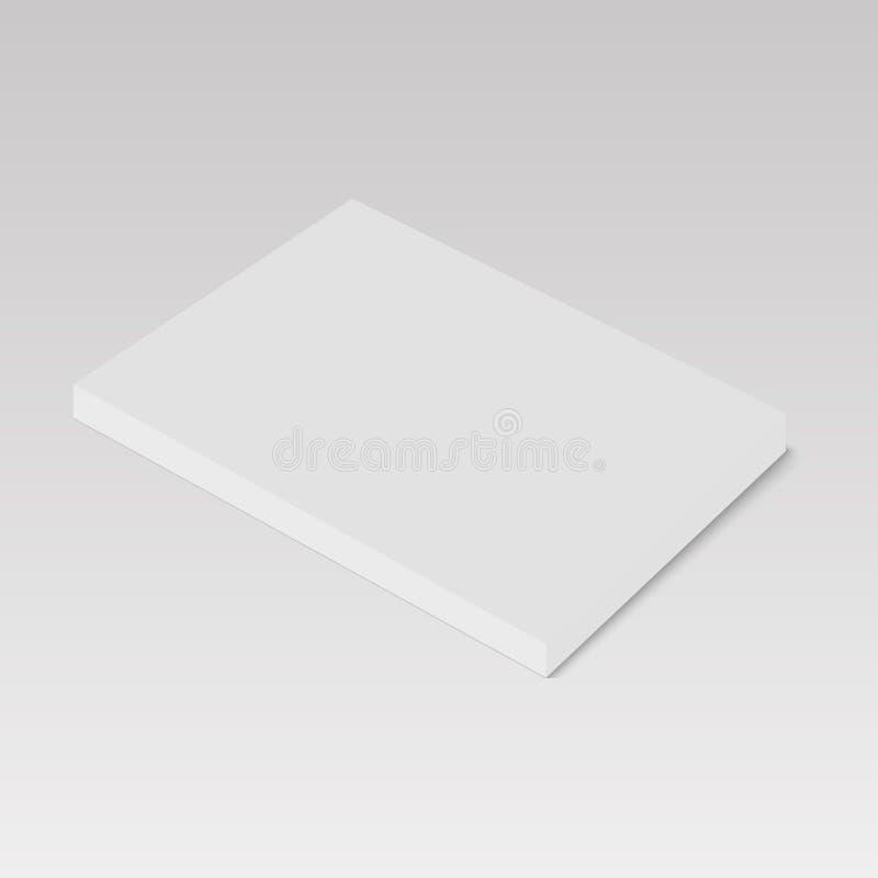 Placa do molde do livro, do compartimento ou do folheto ilustração royalty free