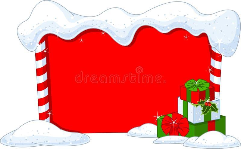 Placa do Natal ilustração royalty free
