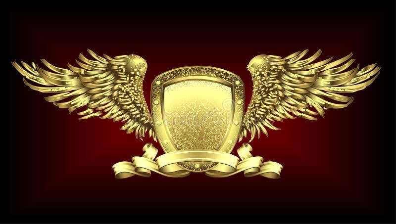 Placa do ouro ilustração do vetor
