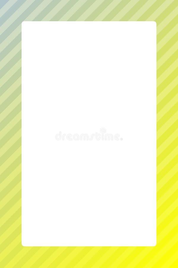 Placa do quadrado do fundo do molde da Web da bandeira do quadro da cor e espaço amarelos brilhantes da cópia para anunciar a v ilustração royalty free