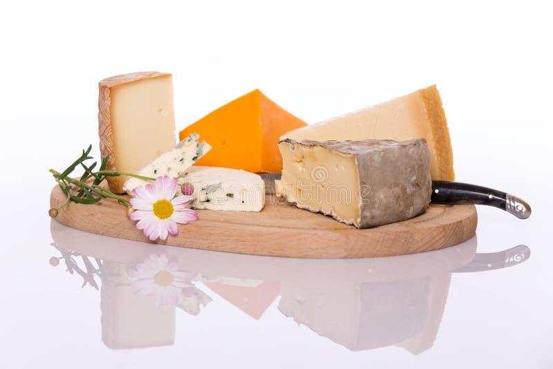 Placa do queijo fotografia de stock