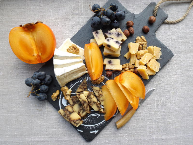 Placa do queijo imagem de stock