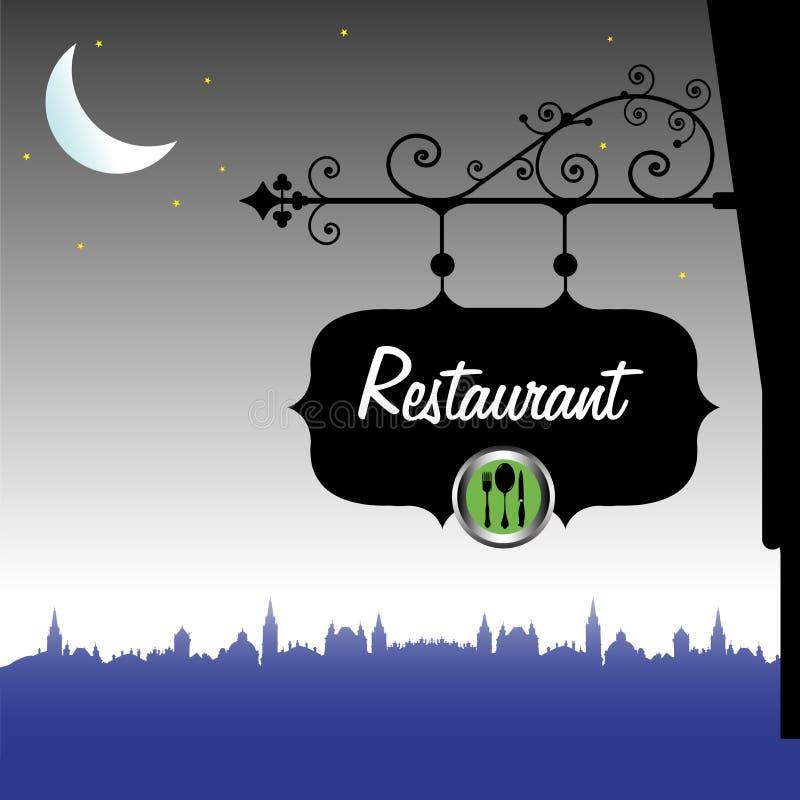 Placa do restaurante ilustração do vetor