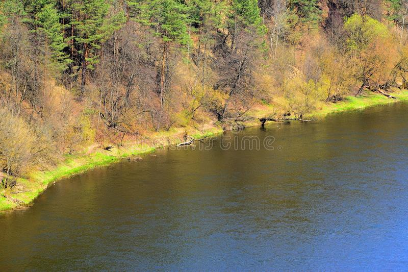 Placa do rio de Neris no distrito de Lazdynai imagens de stock royalty free