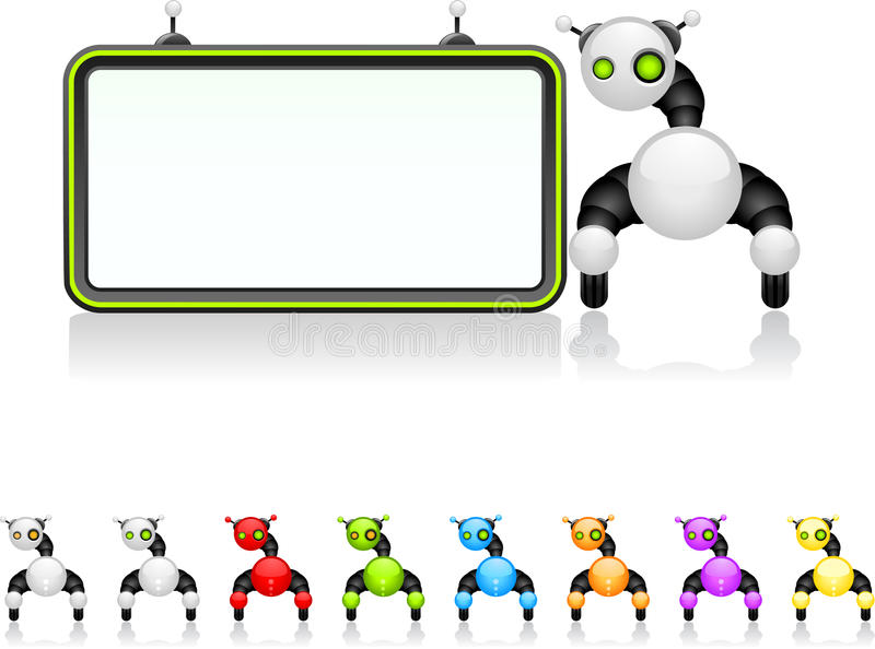 Placa do robô ilustração do vetor