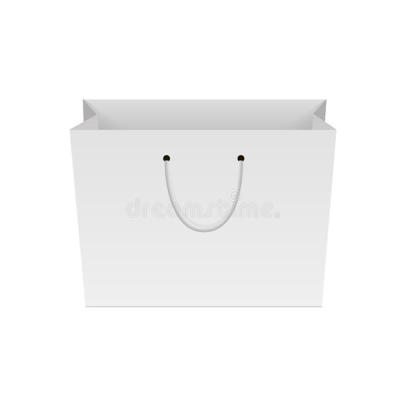 Placa do saco de compras de papel Zombaria acima para seu projeto Vetor ilustração stock