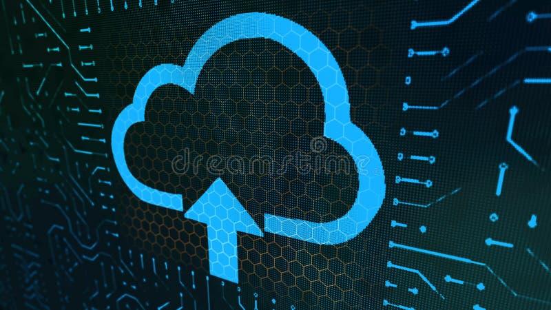 Placa do sinal da carteira com nuvem azul ilustração royalty free