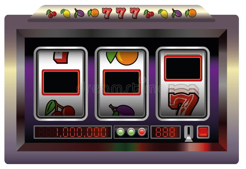 Placa do slot machine ilustração do vetor
