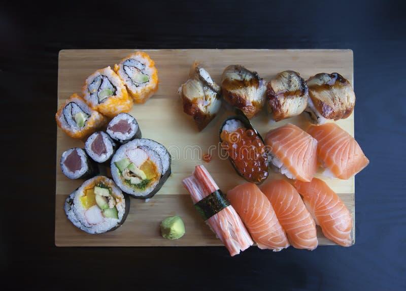 Placa do sushi imagem de stock royalty free