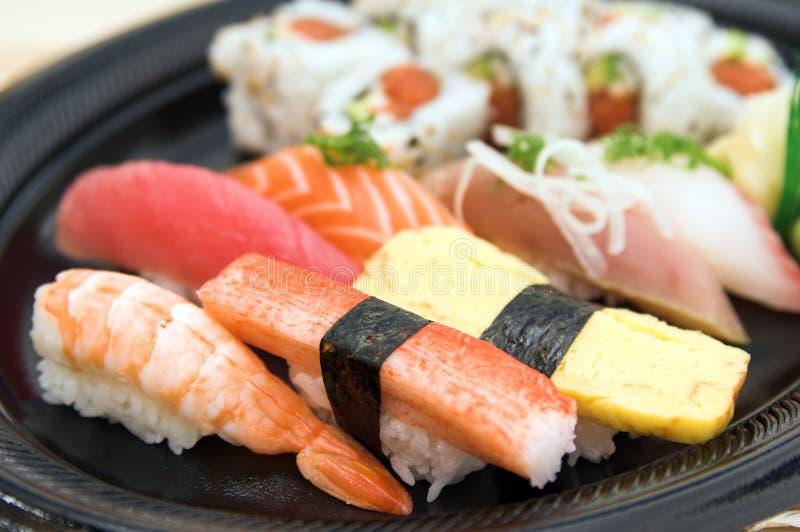 Placa do sushi imagem de stock