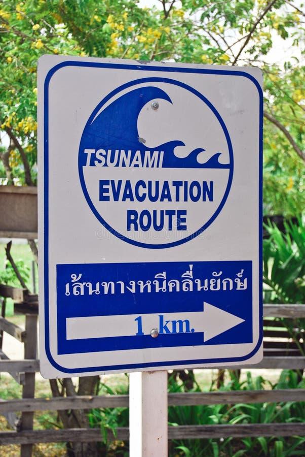 Placa do tsunami na phi da phi foto de stock