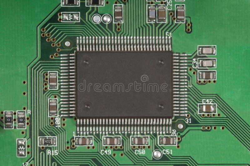 Placa e processador de circuito foto de stock