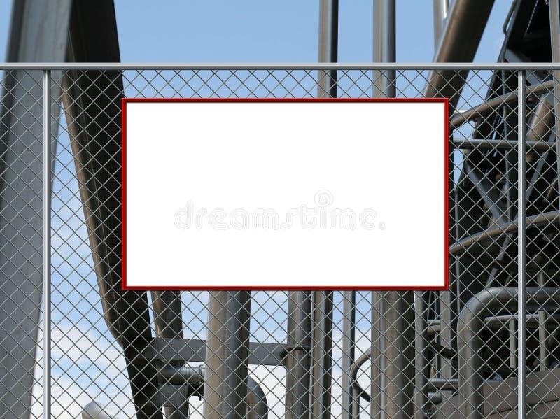 Placa em branco do sinal ilustração do vetor