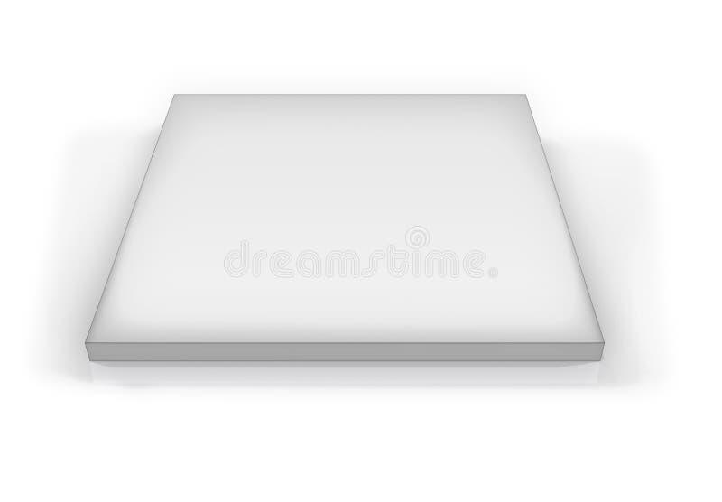 Placa en blanco imagen de archivo