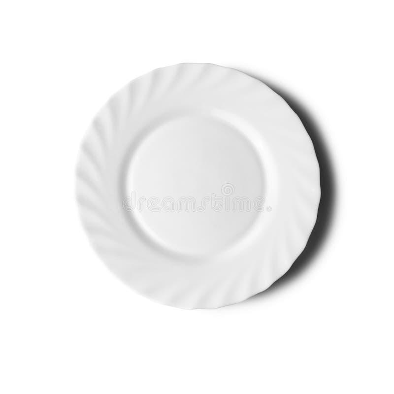 Placa en el fondo blanco con una sombra imagenes de archivo