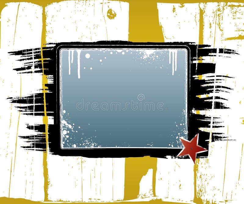 Placa escovada suja de Grunge ilustração royalty free