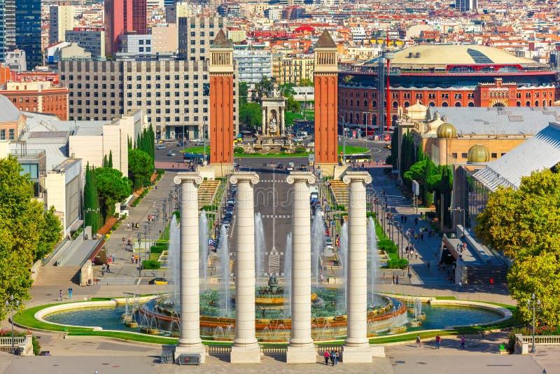 Placa Espanya在巴塞罗那,卡塔龙尼亚,西班牙 免版税图库摄影