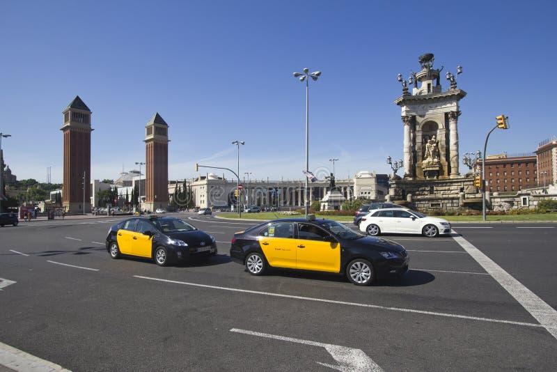 Placa Espanya em Barcelona, Espanha imagens de stock royalty free