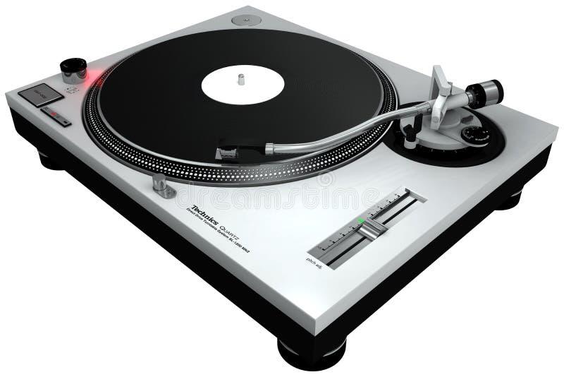 Placa giratoria 1 de DJ stock de ilustración