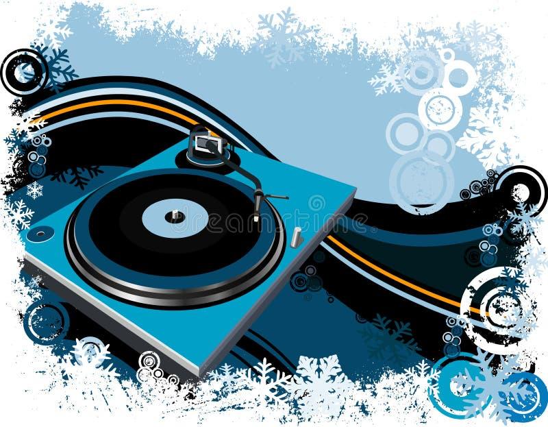 Placa giratoria de DJ ilustración del vector