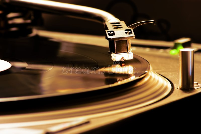 Placa giratoria de DJ imágenes de archivo libres de regalías