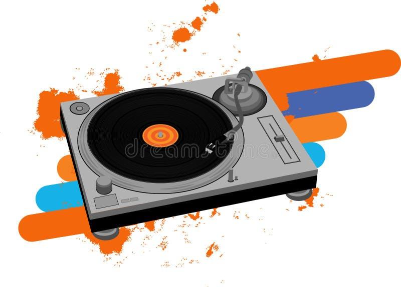 Placa giratoria de DJ stock de ilustración