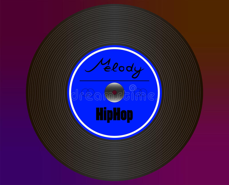 Placa HipHop foto de archivo
