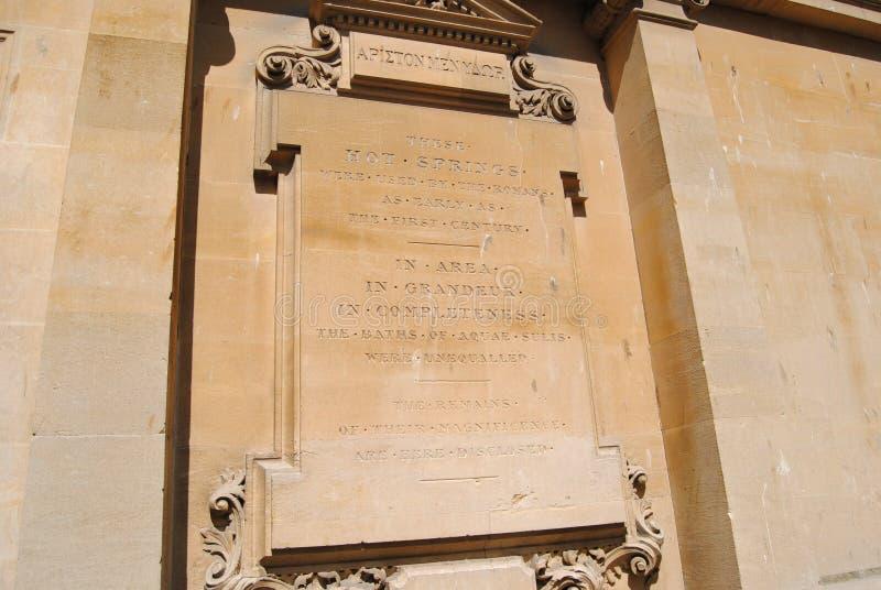 Placa histórica, Bath, Somerset, Inglaterra. Patrimonio de la Humanidad de la Unesco fotos de archivo
