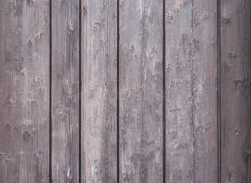Placa lamentable pintada marrón envejecida de la madera, de la textura o del fondo de roble fotos de archivo libres de regalías