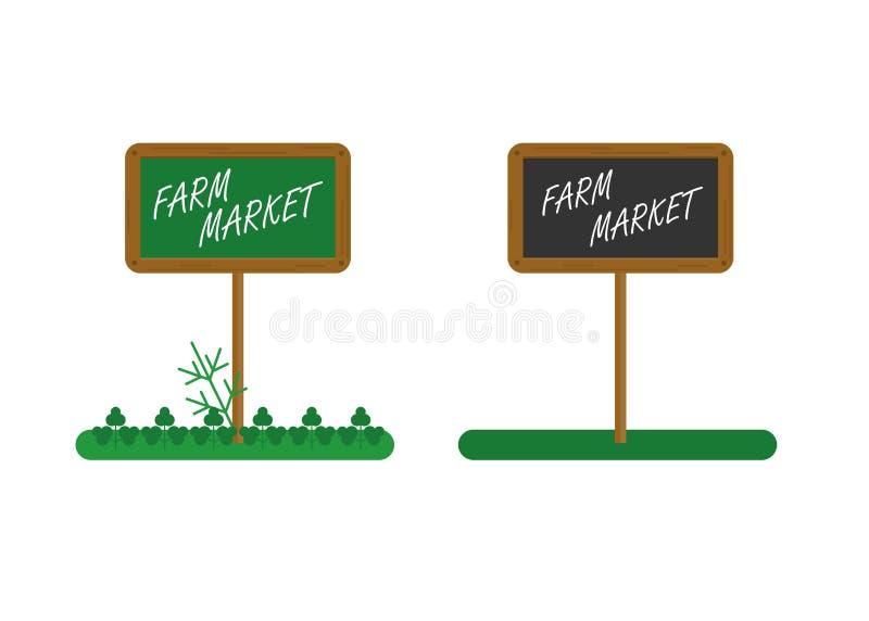 Placa local del farmmarket stock de ilustración