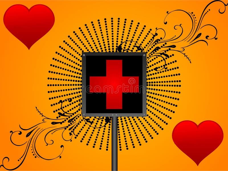 Placa médica do sinal ilustração do vetor