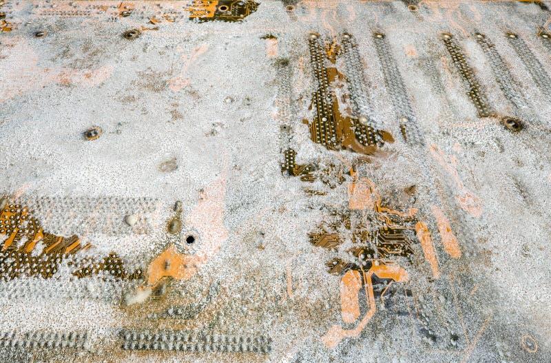 Placa madre de congelación fotos de archivo