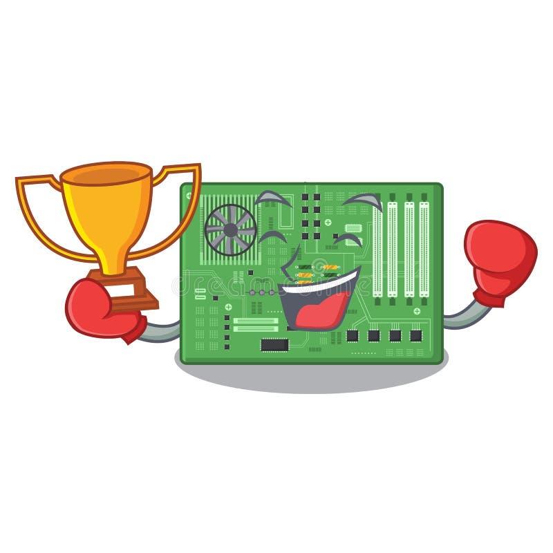 Placa madre de encajonamiento del juguete del ganador en un bolso de la mascota libre illustration