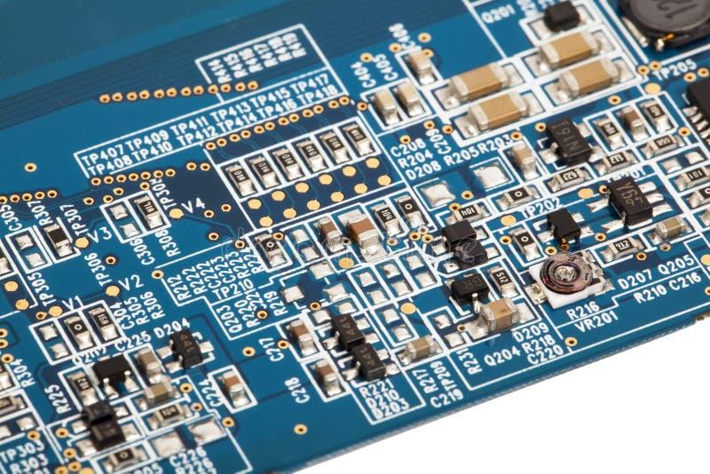 Placa madre de la computadora portátil con los detalles foto de archivo libre de regalías