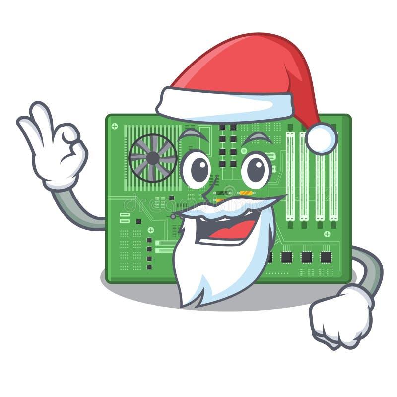 Placa madre del juguete de Papá Noel en un bolso de la mascota stock de ilustración