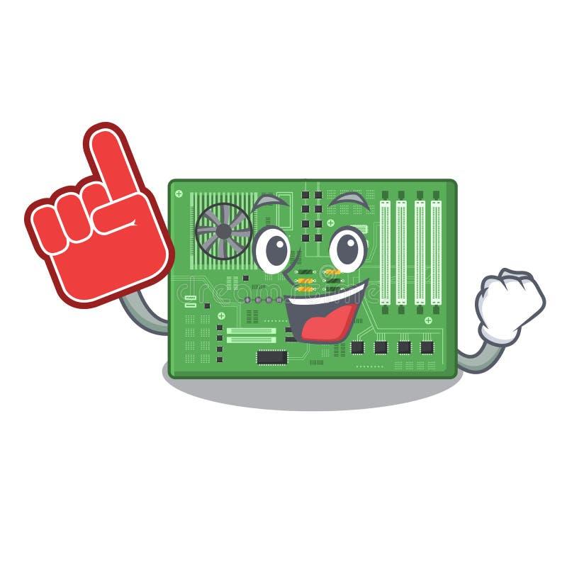 Placa madre del juguete del finger de la espuma en un bolso de la mascota ilustración del vector