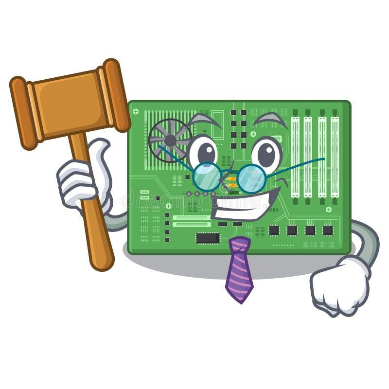 Placa madre del juguete del juez en un bolso de la mascota libre illustration