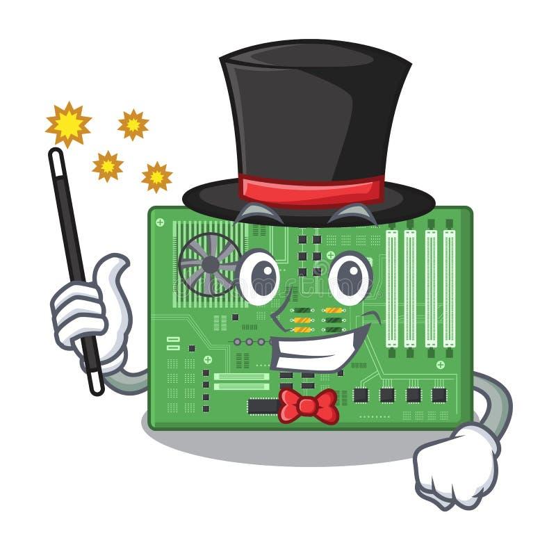 Placa madre del juguete del mago en un bolso de la mascota stock de ilustración