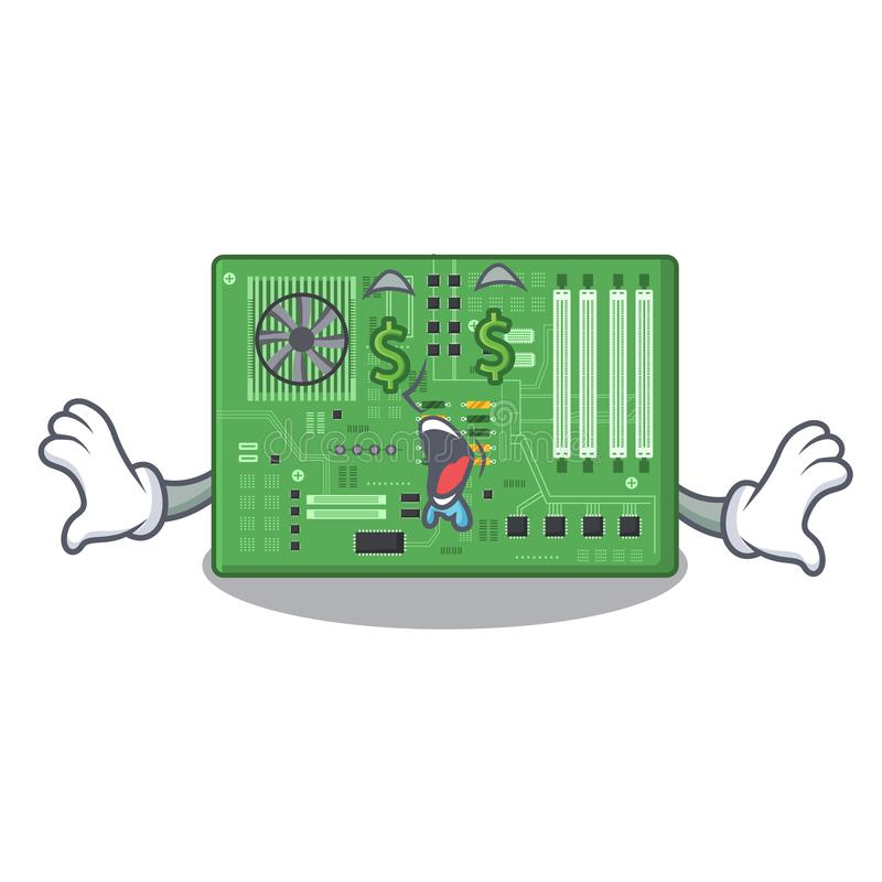 Placa madre del juguete del ojo del dinero en un bolso de la mascota libre illustration