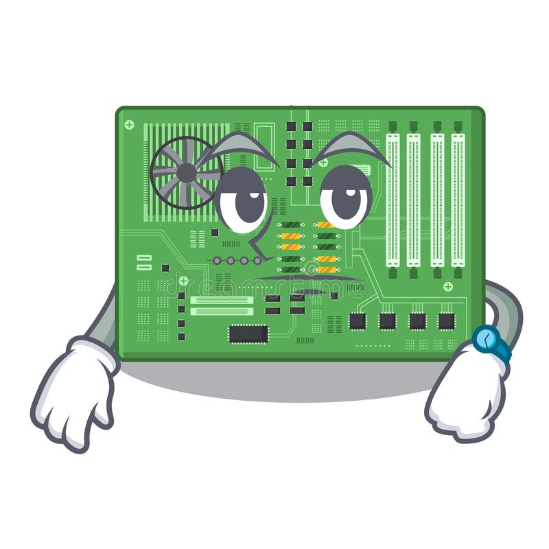 Placa madre del juguete que espera en un bolso de la mascota ilustración del vector