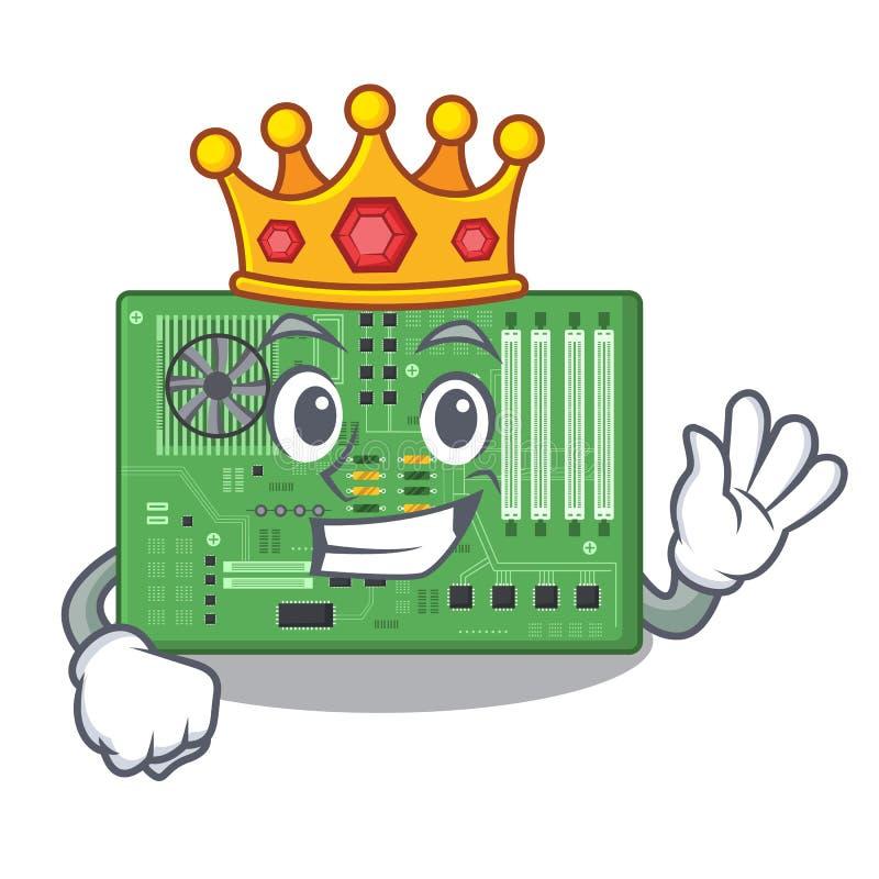 Placa madre del juguete del rey en un bolso de la mascota ilustración del vector