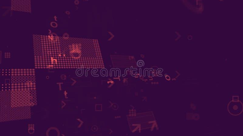 Placa madre global en Violet Background ilustración del vector