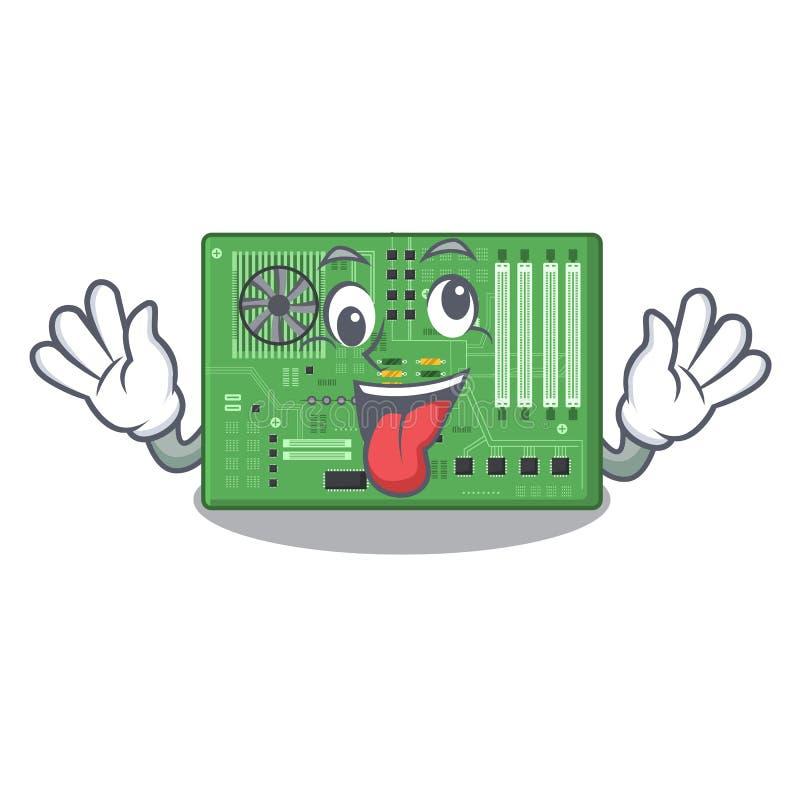 Placa madre loca del juguete en un bolso de la mascota stock de ilustración