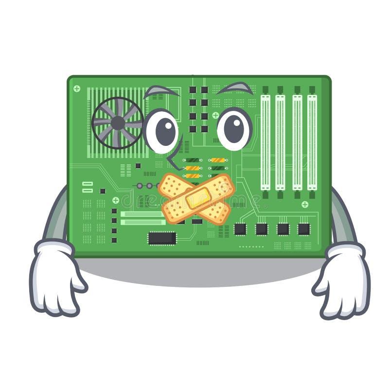 Placa madre silenciosa del juguete en un bolso de la mascota ilustración del vector