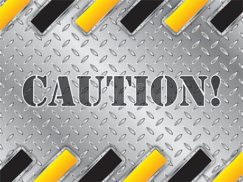 Placa metálica brilhante abstrata com elementos listrados ilustração do vetor