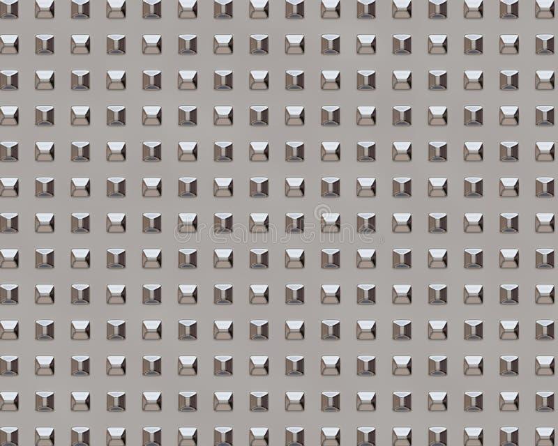 Placa metálica do sumário do fundo da textura do metal ilustração royalty free