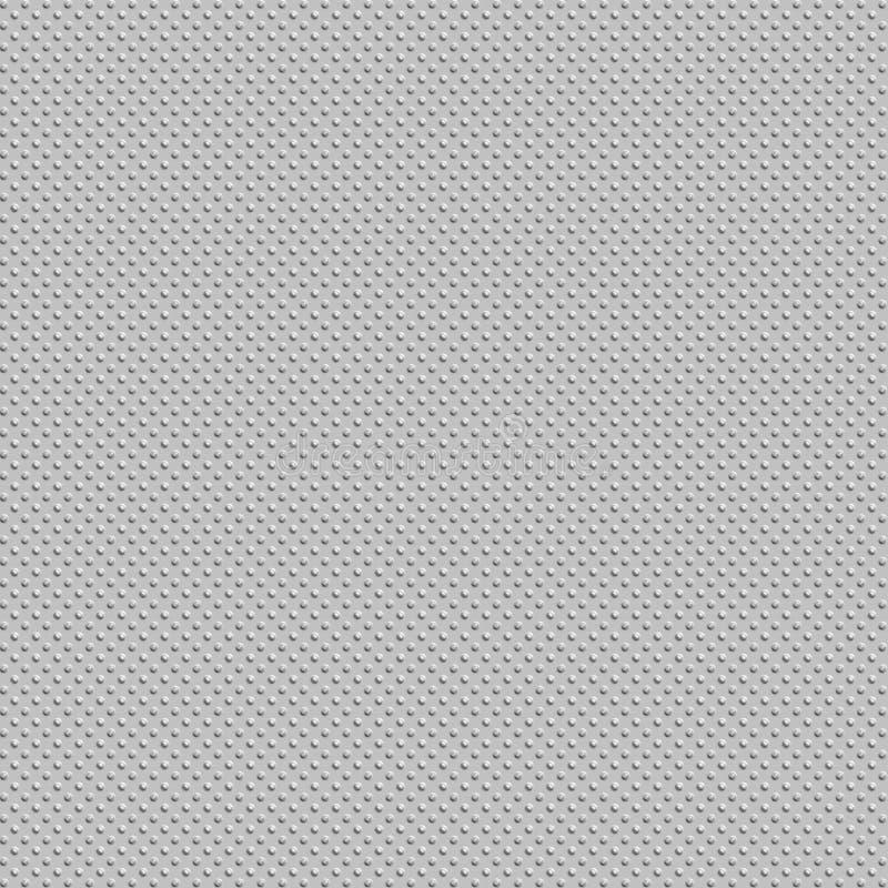 Placa metálica dos pontos ilustração do vetor